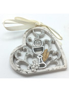 Communion Gift: Hanging Heart Ornament 7.5cm(PL5072)