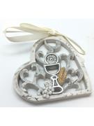 Communion Gift: Hanging Heart Ornament 7.5cm(PL5072)