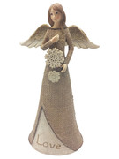 Christmas Burlap Angel: Love(ST1996)
