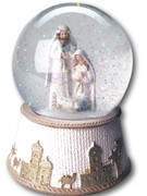 Musical Resin Water Ball Nativity 12cm (NST10000)