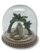 Resin & Glass Dome Nativity 8.5cm (NST10009)
