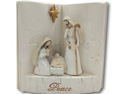 Holy Family in Book, 14cm (NST10017)