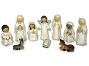 Nativity Set in White 11 pieces (NS10107)