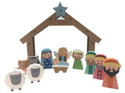 Wooden Nativity Set 12 pieces (NS10085)