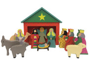 Wooden Nativity Set 12 pieces (NS10084)