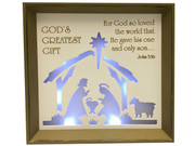 LED Nativity Scene Frame 24cm(NST10061)