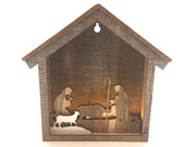 LED Wooden Nativity Scene Frame 21cm(NS10088)
