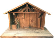 Wood Stable Suitable for 12cm Nativity (NS85000)