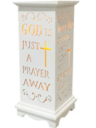 Wood Lanterns with LED Light: Prayer(LT84687)