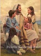 Unframed Canvas Print: Jesus & Children 30x45cm (PI20X20JCHN)