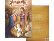 Christmas Ornament: Luminous Baby Jesus/Card (NSTP422)