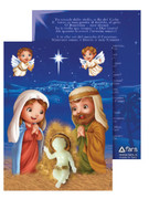 Christmas Ornament: Luminous Baby Jesus/Card (NSTP402)