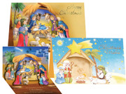 Quality Christmas Pop-Up Cards Pk6 Two designs (CD97675)