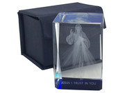 Laser Engraved Glass Blocks: Divine Mercy(LE43258)
