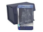 Laser Engraved Glass Blocks: Christmas Blessing(LE432NA)