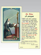 Laminated Holy Card(each): 800 SERIES - St Rita (LC8-201)