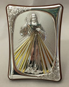 Greek Silver Icon Plaque: Divine Mercy 7x10cm (PL98558)