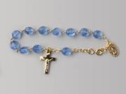 Rosary Bracelet: Blue (RB3217B)