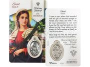 Laminated Card & Medal : St Lucy Patron of Impaired Vision (LCG106)