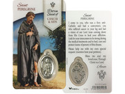 Window Charm Prayer Card: St Peregrine (LCG103)