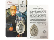 Window Charm Prayer Card: St Maximilian (LCG111)