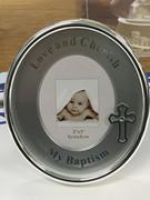 Baptism Gift: Oval Photo Frame (PLB6068)