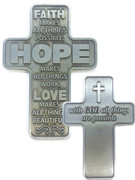Pocket Cross: Faith Hope Love (CR20063)