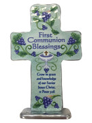 Communion Gift: Metal standing Cross (QP431)