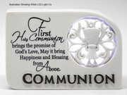 LED Light Up Plaque First Holy Communion (PLC5023)