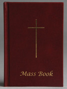 Hard Cover Missal: Mass Book in Burgandy(BK4211)