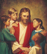 Unframed Canvas Print: Jesus and Children 40x60cm (PI20X20JCHN2)