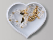 Heart Shaped Box, ROSARY BRACELET: Crystal (RB3217W)