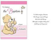 Card (each): Baptism Goddaughter (CD13223e)
