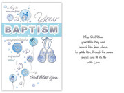 Card (each): Baptism Baby Boy(CD13214e)