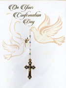 3D Confirmation Cards(each): Dove with Real Cross(CD28103e)