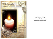 Packet Cards (6): Sympathy Candle  (CD13608)