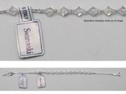 Rosary Bracelet: Sterling Silver & Swarovski Beads(BR1955)