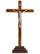 Standing Crucifix Wood and Metal Corpus 23cm (CRMP30)