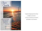Sympathy Card(6): Beach Scene (CD13602)