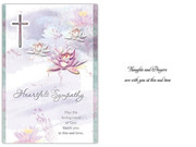 Sympathy Card(6): Lotus Flowers (CD13605)
