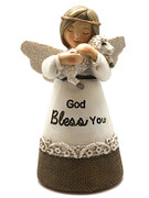 "Little Blessing White Angel: Lamb ""God Bless You""(ST7078)"