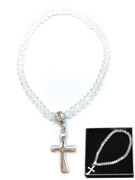 Child Bracelet: Crystal 3mm Beads & Cross(JE2975C)