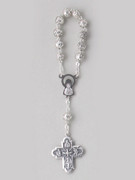Rosary Ring/Finger Rosary: Metal Rose (RR966)