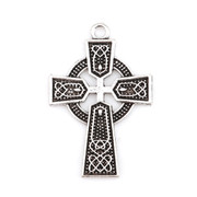 Cross Pendant: Celtic Silver 4cm (CR1831)