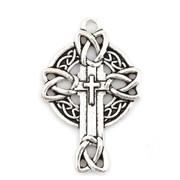 Cross Pendant: Celtic Silver 3.7cm (CR1835)