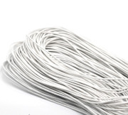 Rosary Making Cord: 1.5mm White waxed cotton cord 80m(FC001)
