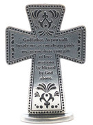 Metal Standing Cross - Godfather (SQP125)