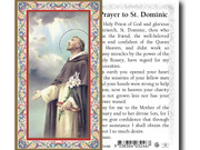 laminated Holy Card (each) St Dominic (LC734428)