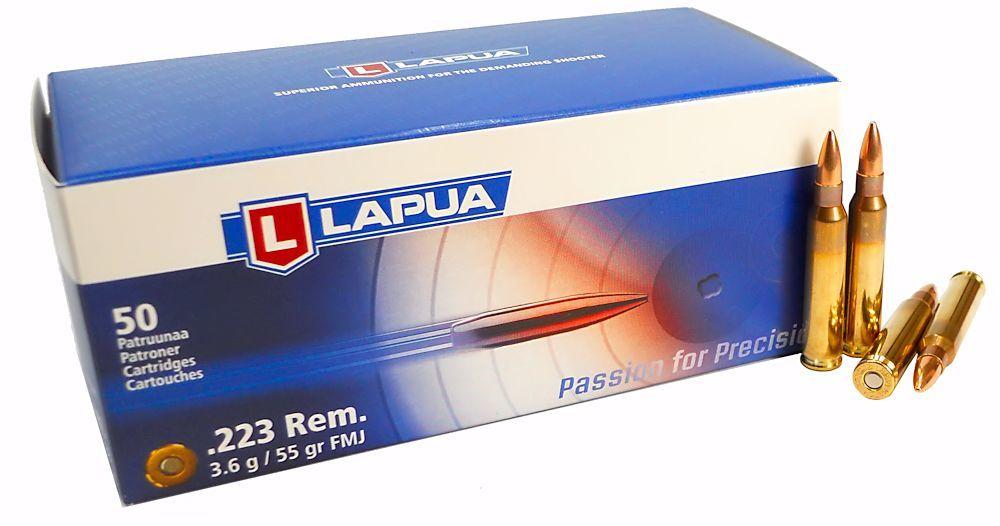 Lapua 223 5.56x45 Ammo 55gr FMJ - 50 Round Box