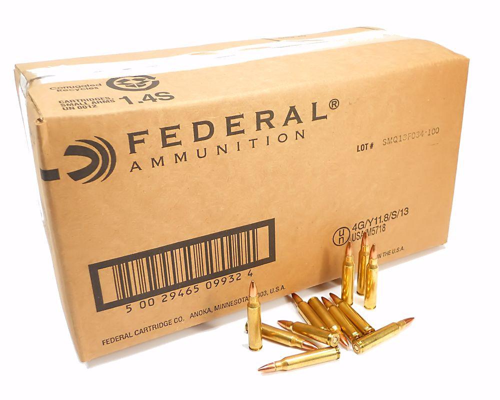223 5.56x45 Ammo 55gr FMJ Federal American Eagle (AE223BK) 1000 Round Bulk Case